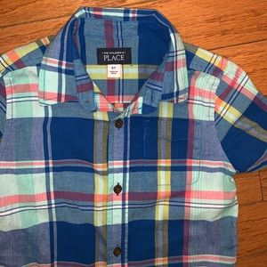 Children's Place Button down plaid shirt